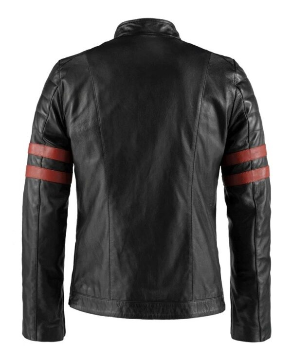Hybrid Black Leather Jacket Cafe Racer Style (4)