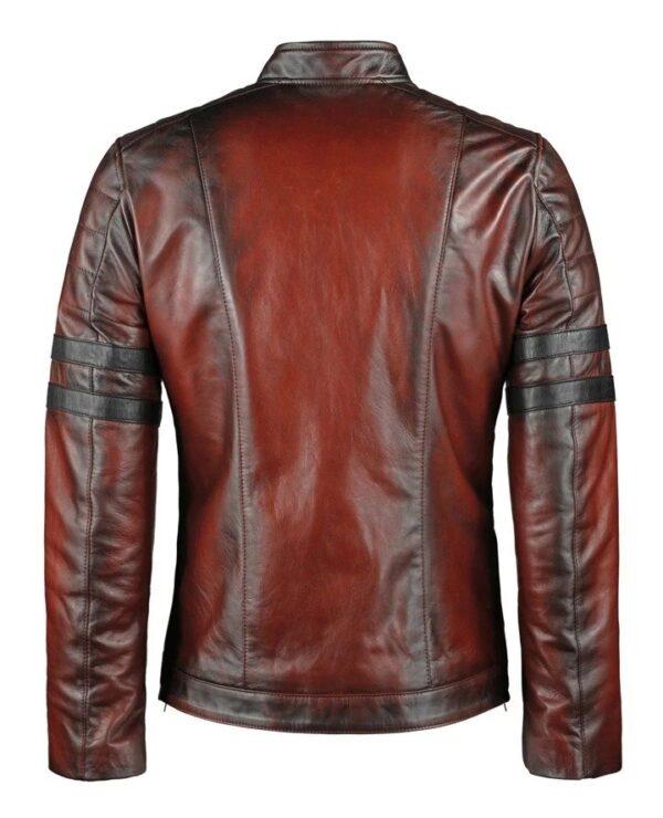 Hybrid Black Leather Jacket Cafe Racer Style (5)