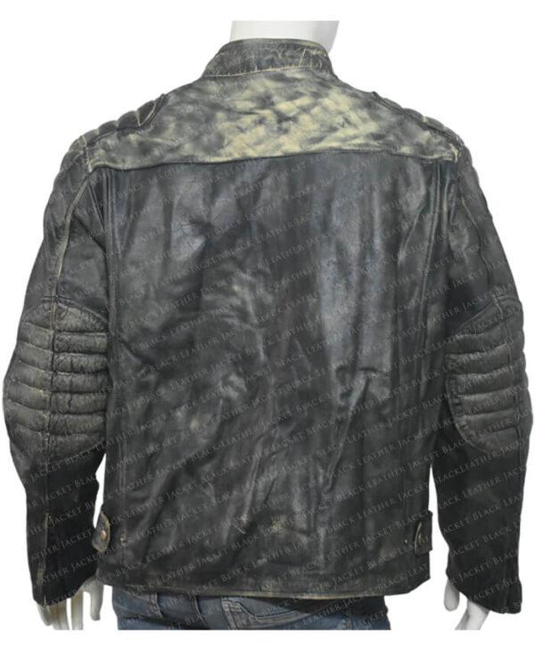 Distressed Leather Hooligan Jacket back