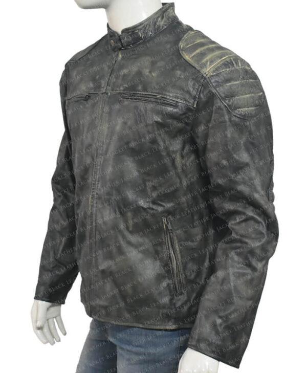 Distressed Leather Hooligan Jacket left