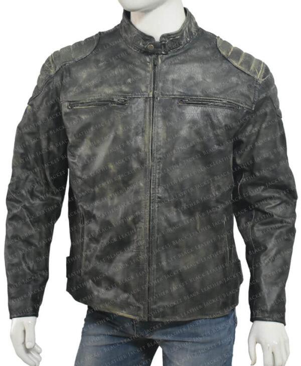Distressed Leather Hooligan Jacket main