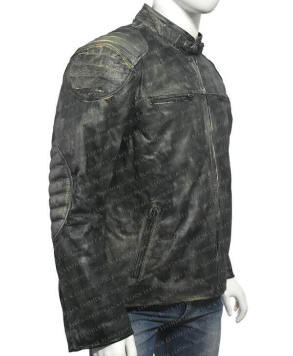 Distressed Leather Hooligan Jacket right