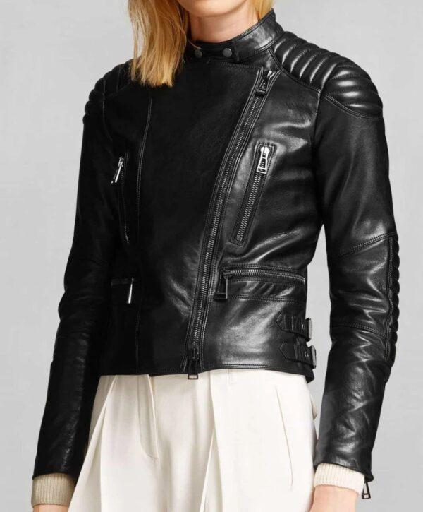 Motorcycle Women's Black Jacket