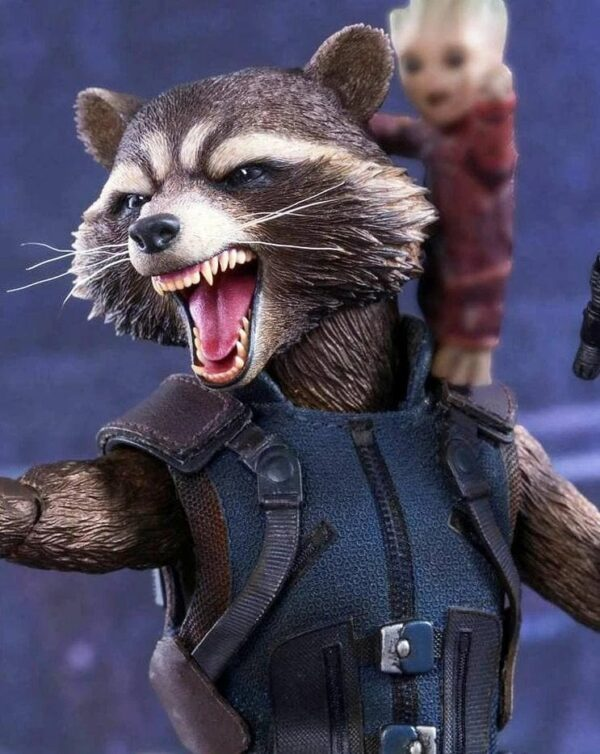 Raccoon Leather Vest Guardians Of The Galaxy Vol 2 (3)