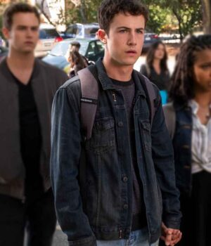 Dylan Minnette 13 Reasons Why S04 Denim Blue Jacket