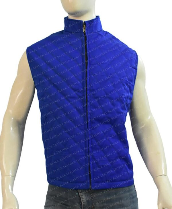 Yellowstone John Dutton Quilted Blue Vest