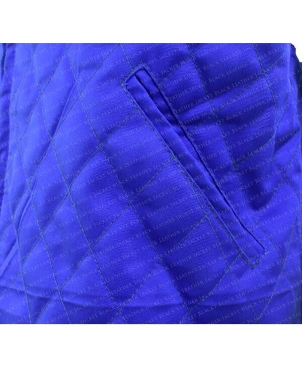 Yellowstone John Dutton Quilted Blue Vest Pocket
