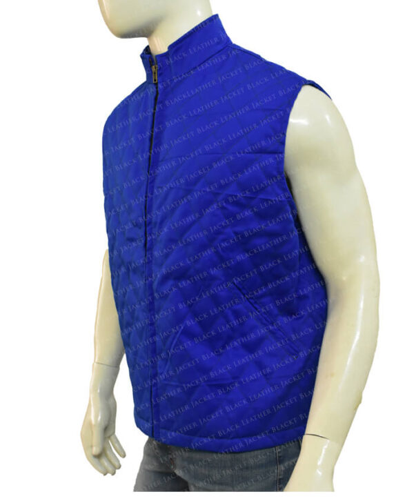 Yellowstone John Dutton Quilted Blue Vest Side