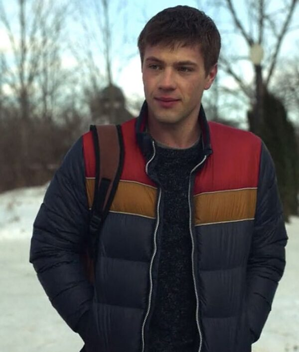 Locke and Key Connor Jessup Blue Puffer Jacket