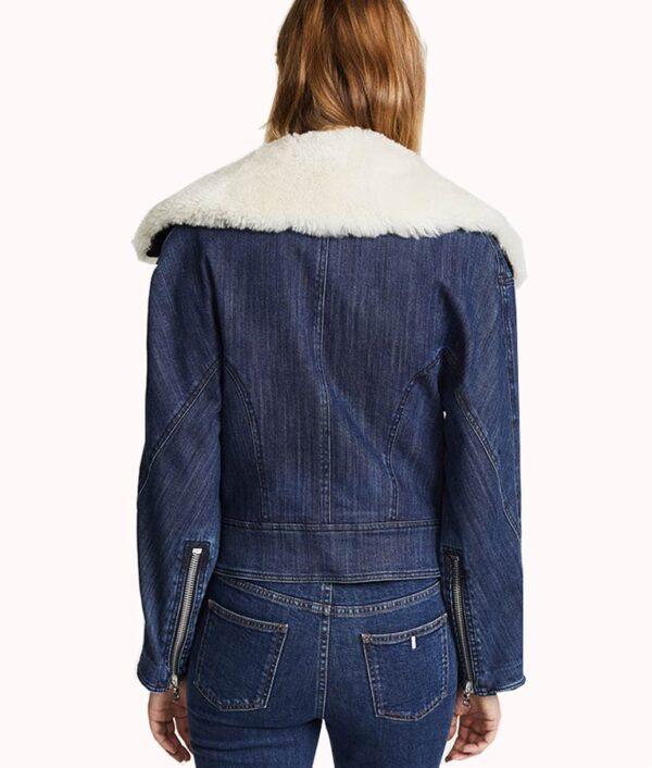 Pretty Little Liars Ava Jalali Denim Fur Jacket