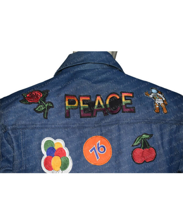 Rocketman Elton John Denim Jacket back half