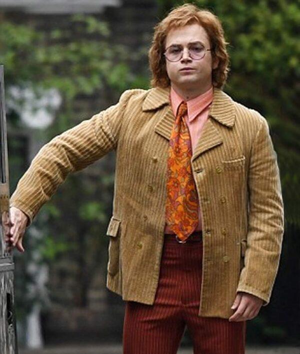 Elton John Rocketman Beige Coat