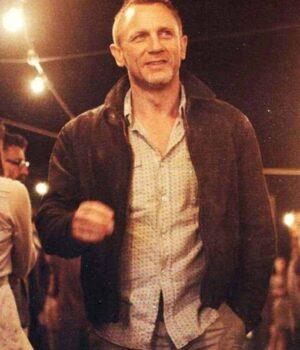 Skyfall Daniel Craig Brown Leather Jacket