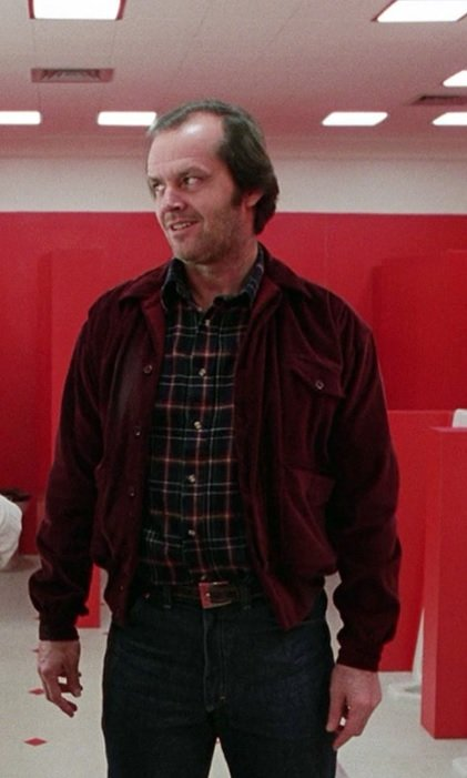 The Shining Jack Torrance Corduroy Red Velvet Jacket