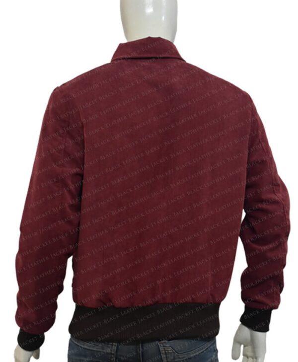 The Shining Jack Torrance Corduroy Red Velvet Jacket Back
