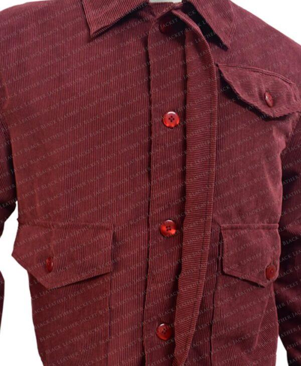The Shining Jack Torrance Corduroy Red Velvet Jacket Half