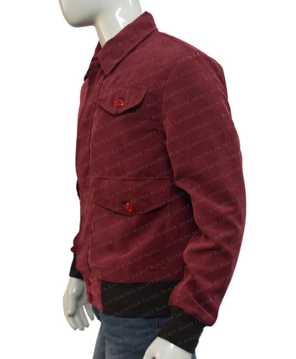 The Shining Jack Torrance Corduroy Red Velvet Jacket Side