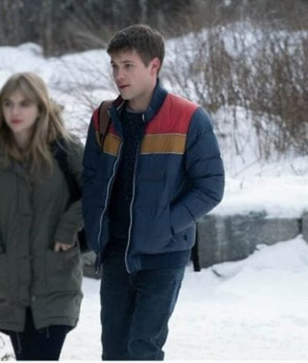 TV Series Locke and Key Connor Jessup Blue Puffer Jacket