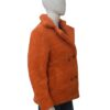 Yellowstone Beth Dutton Orange Shearling Coat Right Side