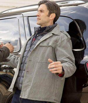 Yellowstone Wes Bentley Grey Cotton Jacket