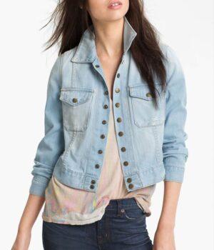 Monica Dutton Yellowstone S03 Blue Jacket