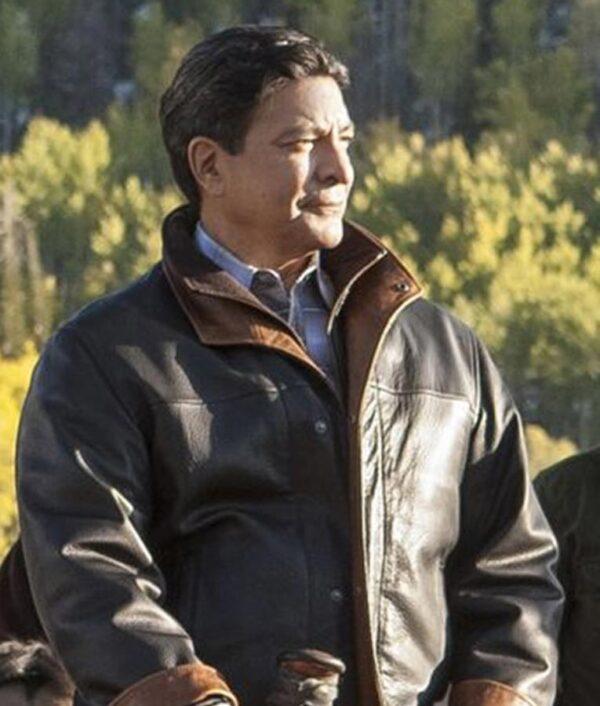 Gil Birmingham Brown Leather Jacket