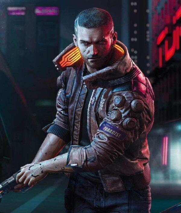 Cyberpunk 2077 Bomber Leather Jacket 2
