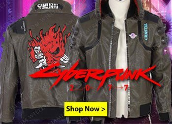 Cyberpunk-2077-Bomber-Leather-Jacket-Leather Jacket Black