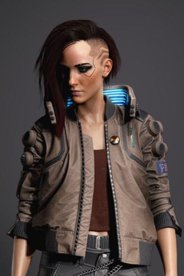 Cyberpunk 2077 Bomber Leather Jacket Women
