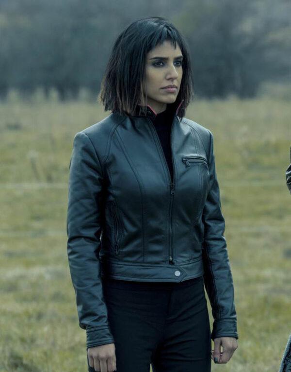 Lila Pitts Black Leather Jacket