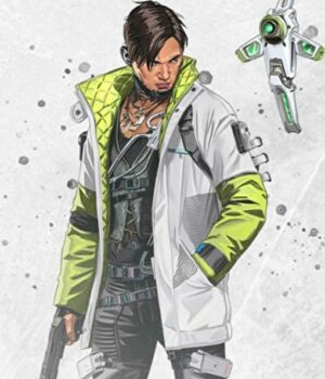 Apex Legends Green White Leather Jacket