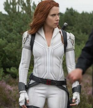 Black Widow White Leather Jacket