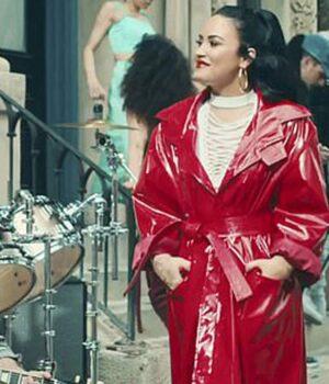 I Love Me Song Demi Lovato Leather Coat