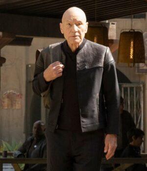 Jean-Luc Picard Star Trek Patrick Stewart black Cotton Jacket