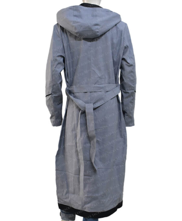 Jodie Whittaker Doctor Who Grey Coat back