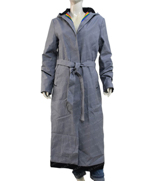 Jodie Whittaker Doctor Who Grey Coat front