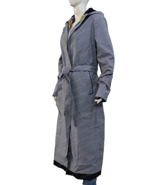 Jodie Whittaker Doctor Who Grey Coat side