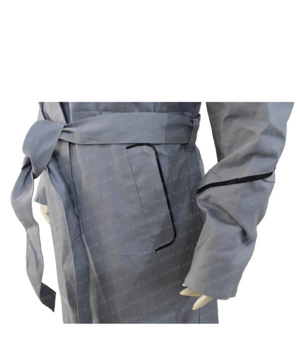 Jodie Whittaker Doctor Who Grey Coat side pocket