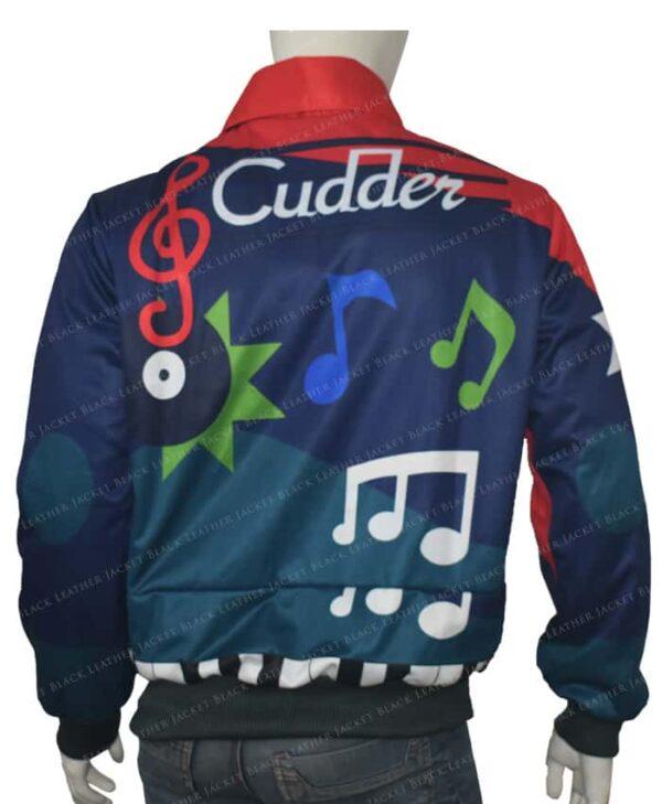 Kid Cudi The Music Printed Leather Jacket Back