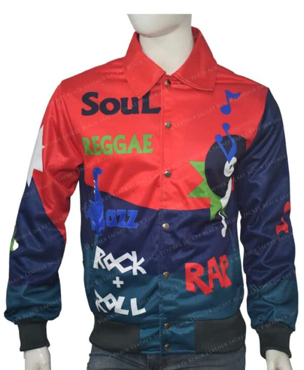 Kid Cudi The Music Printed Leather Jacket Front