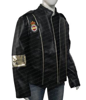 Michael Jackson Black Leather Jacket Side