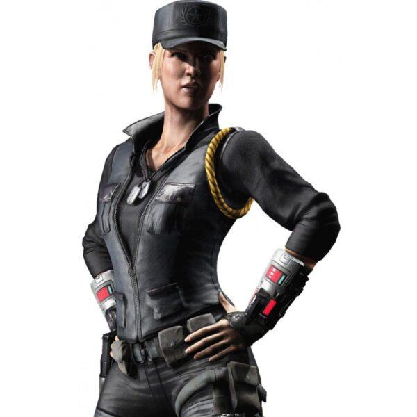 Soldier Sonya Black Leather Vest