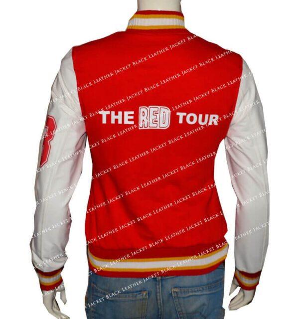 Taylor-Swift-Red-Varsity-Jacket-Back-Leather-Jacket-Black