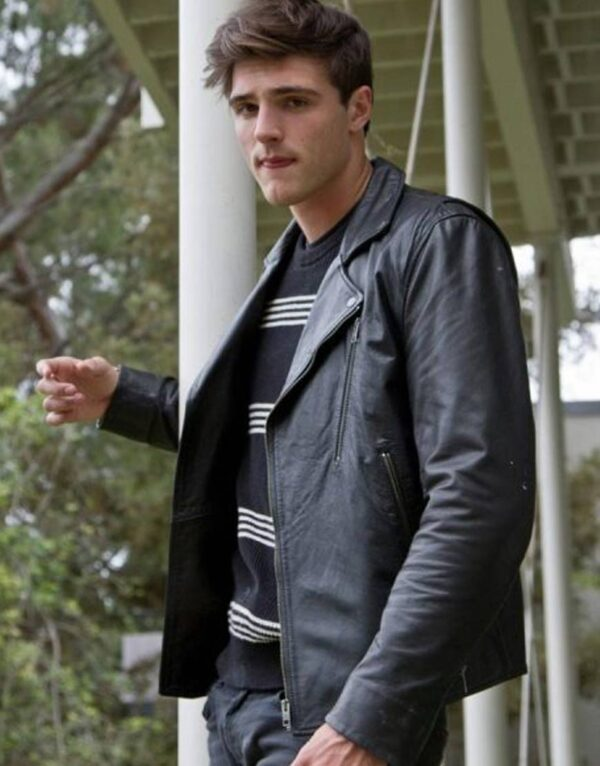 Jacob Elordi The Kissing Booth 2 Black Leather Jacket