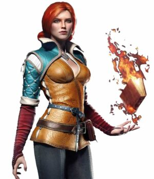 Triss Merigold The Witcher 3 Brown Leather Jacket