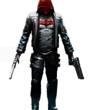 Batman Arkham Night Hooded Black Leather Jacket