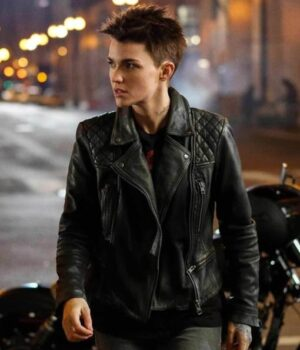 Batwoman Ruby Rose Motorcycle Leather Jacket