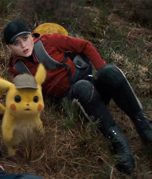 Pokemon Detective Pikachu Red Cotton Jacket
