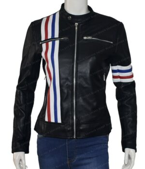 Future Man Tiger Black Leather Jacket
