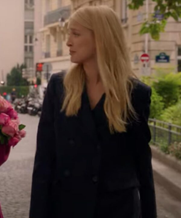 Emily In Paris Camille Black Wool Blend Coat
